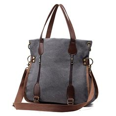 New Trending Cross Body Bags: Womens Canvas Tote Bag Top Handle Bags Crossbody Messenger Bag Shoulder Handbag (Gray). Women's Canvas Tote Bag Top Handle Bags Crossbody Messenger Bag Shoulder Handbag (Gray)  Special Offer: $26.99  311 Reviews Features – Perfect for everyday wear and travel,spacious and economically price. . – Multi color for all people. Fashion and super...