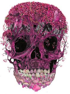 Awesome purple skull.  If you know where this image originated please let me know!  #skull #skulls #obsessedwithskulls