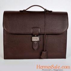Hermes Sac Depeche 38cm Darkcoffee Clemence Silver Hardware Hermes Purse 0b8232fe2ef02
