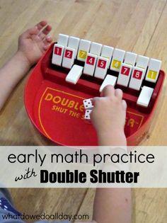 Fun way to practice beginning math skills! I did this with my Kindergartener.