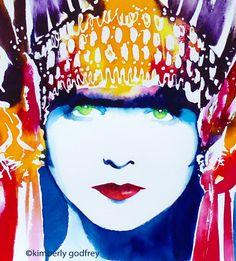 Fashion Illustration, Hollywood Regency Paintings & portraits, Joan Crawford, Lana Turner, Marilyn Monroe, Bette Davis, Audrey Hepburn, Louise Brooks, early cinema paintings, film noir