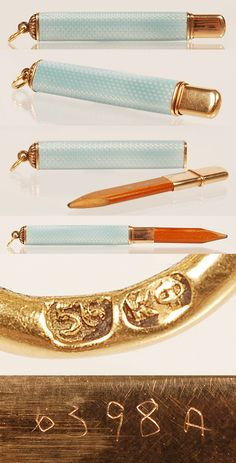 Faberge Guilloche Enamel Pencil