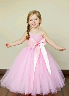 Flower girl in pink dress