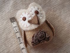 Adorable Baby Owl Brooch from LucyKate Crafts