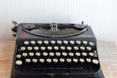 Antique Typewriter 1920s Remington Portable by MollyFinds on Etsy