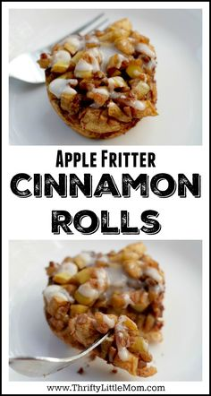 Apple Fritter Cinnamon Roll Recipe. This easy & flavor packed recipe is one that you can make with fresh or canned apples as well as Phillsbury or other refrigerated cinnamon bun dough.