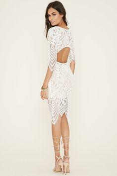 Cutout-Back Floral Lace Dress   Forever 21 - 2000153806