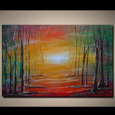 ((( المستقبل المشرق )))                                       Original Contemporary Abstract Modern Fine Art by colorblast, $189.00