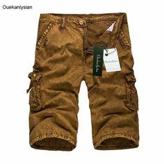 Ouekanlysian Summer Baggy Cargo Shorts Camouflage Miitary Short Men Casual Pockets Straight Joggers Short Pantalon Corto Hombre