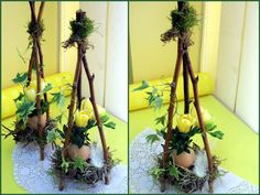 Groszki i róże...: Wielkanocne warsztaty florystyczne