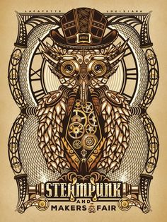 Owl Clock Illustration