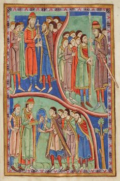 Tribes dividing Kingdom | Miscellany on the life of St. Edmund | England, Bury St Edmunds |  ca. 1130 | The Morgan Library & Museum