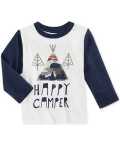 First Impressions Baby Boys' Long-Sleeve Graphic-Print T-Shirt, Only at Macy's | macys.com