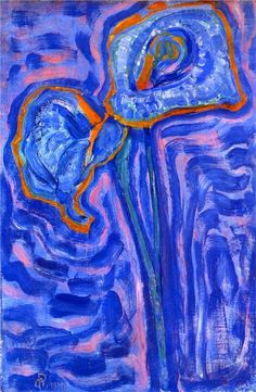 Sun - Artist: Piet Mondrian Style: Fauvism Genre: flower painting Tags: flowers-and-plants Piet Mondrian, Mondrian Kunst, Dutch Artists, Art Moderne, Vincent Van Gogh, Figure Painting, Artist Art, Art Forms, New Art