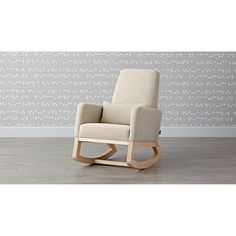 A stylish rocking chair designed by Monte™ for you and your little bundle of joy. Comfy, with a smaller footprint, our Joya Rocking Chair gently rocks back and forth on solid maple legs. Baby Room Neutral, Nursery Neutral, Recycled Furniture, Bed Furniture, Black Velvet Chair, Rocking Chair Nursery, Nursery Chairs, Kids Bedroom Storage, Wrought Iron Patio Chairs