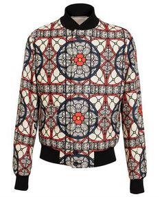 ALEXANDER MCQUEEN - Stained Glass Fine Wool Bomber Jacket £1,195