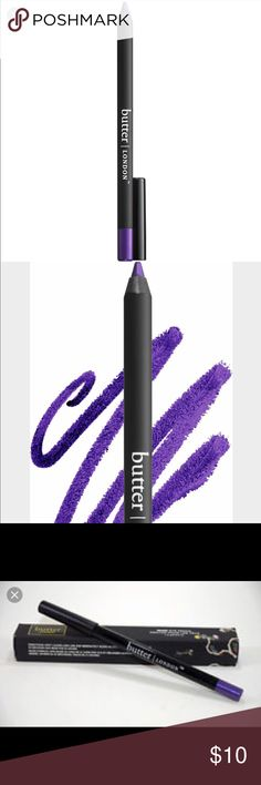 Butter London Wink Eye Pencil- Indigo Punk Violet shimmer-soft formula stays put for hours, waterproof, high intensity color Butter London Makeup Eyeliner