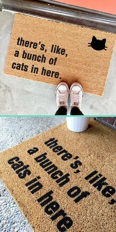 "THE ORIGINAL bunch of cats in here™️ doormat - 18""x30""  