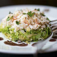 A salada de caranguejo fica pronta em 20 minutinhos