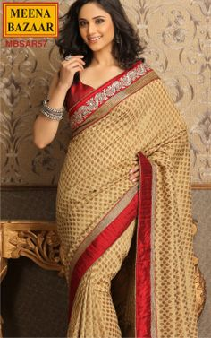 Khaddi Weaving Saree with Raw-Silk Border