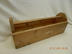 Wooden Tool/Garden Caddy! HANDMADE! UNKNOWN VINTAGE! NO MAKER NAME! AS IS!