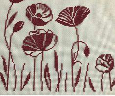 Cross Stitch Designs, Cross Stitch Patterns, Cross Stitching, Cross Stitch Embroidery, California Poppy, Bargello, Cross Stitch Flowers, Designs To Draw, Needlework