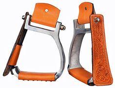 Tough-1 Angled Western Safety Stirrups <>