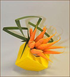 Ikebana. Chinara Munduzbaeva. Workshop Vegetables and Fruits