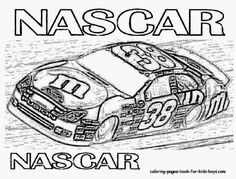 Race Car Pictures to Print   Car Coloring Pages   Cars   NASCAR ...