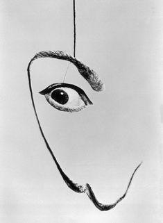 Salvador Dalí by Philippe Halsman, 1954