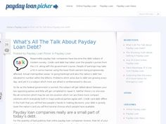 Responsible payday loan companies have become the debt subject of modern society. Credit card debt has taken over the people's purses from the U.S. along with the government's purse. People of earnings may take a hit in some manner using the lower finish earners being progressively affected.