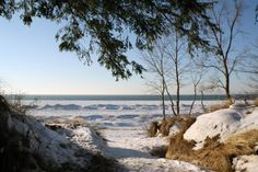 Lake Michigan is as stunningly beautiful when frozen solid in the winter as it is when it's blue and ripply in the summer