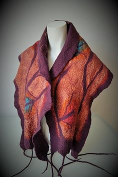 Estola em seda e lã merino. Flora Silva http://ideiasdaflora.blogspot.pt/