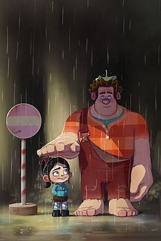 My Neighbor Wreck-It Ralph. (Wreck-It Ralph / My Neighbor Totoro) Disney Pixar, Disney Animation, Walt Disney, Disney And Dreamworks, Disney Love, Disney Magic, Disney Art, Disney Characters, Animation Movies