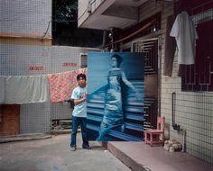 Featuring a copy of Gerhard Richter's Woman Descending the Staircase Hong Kong, Michael Wolf, Original Copy, Gerhard Richter, Munich, Art Studios, North America, 1, China
