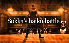 """Buff dude: """"uh that's one to many syllables there bub. -__-"""" Soka: *counts on fingers* """"aaagh!!!!!"""" *falls out the window* and yes! I DID just do that off the top of me head!"""