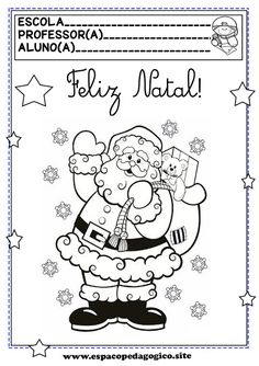 Portuguese Lessons, Christmas Colors, Winter Time, Preschool Crafts, Coloring Books, Activities For Kids, Homeschool, Clip Art, Education