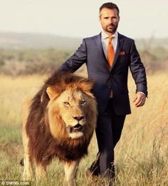 Kevin Richardson and his lion.  Don't know who I like more…..