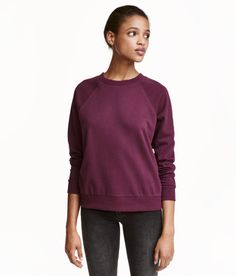 Sweatshirt   Plum   Ladies   H&M US