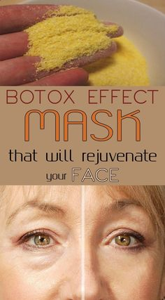 Botox effect mask that will rejuvenate your face