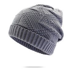 0cd4090d22e Women Men Knitted Skullies Beanie Hat Ear Protection Windproof Cap Outdoor  Sport Fibres Hats is hot sale on Newchic.