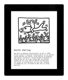 Example of the use of WiFi display - available for musea. E Paper Display, E Ink Display, Keith Haring, Wifi, Museum, Reading, Drawings, Reading Books, Sketches