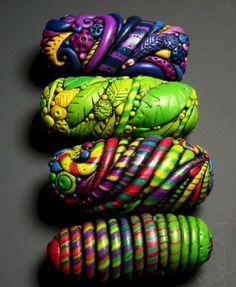 30 easy diy polymer clay beads ideas (9)