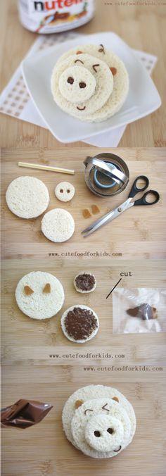 Sandwich cerdito de crema de chocolate