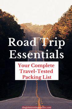 Road Trip Packing Li