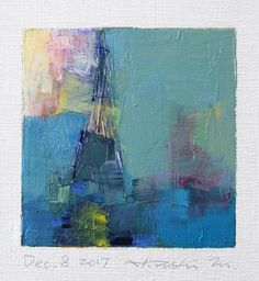 Dec. 8 2017 Original Abstract Oil Painting 9x9 painting