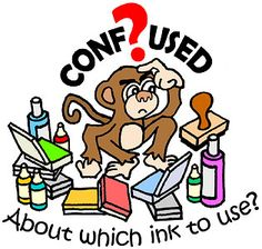 Confused about which ink to use? A complete guide to rubber stamp pads and inks. This is a great post, covers all the ink categories; wonderful for beginners, even those who just want a quick refresher course! Card Making Tips, Card Making Techniques, Making Ideas, Stamp Pad, Card Tutorials, Copics, Ink Pads, Scrapbook Paper Crafts, Greeting Cards Handmade