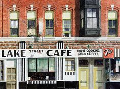 Michael Compton - Lake Street Cafe- - Painting entry - December 2012   BoldBrush Painting Competition