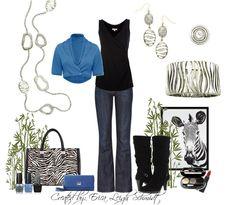 """""""Zebra"""" necklace, earrings, and bracelet. """"Odyssey"""" ring  Kathyblingblingboucher.mypremierdesigns.com code:  2013"""