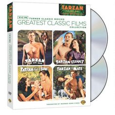 TCM Greatest Classic Films: Johnny Weissmuller as Tarzan, Volume 1 (4FE) DVD TARZAN THE APE MAN (1932) The first teaming of Johnny Weissmuller as Edgar Rice Burroughs' Jungle Lord and Maureen O'Sullivan as Jane sets a high adventure standard and includes an exciting sequence of elephants rescuing Tarzan and Jane from pygmy captors